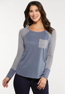 Plus Size Thermal Terry Top