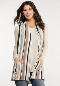 Plus Size Stripe Vest