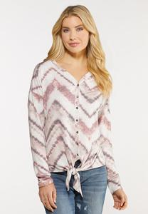 Chevron Dye Knotted Top
