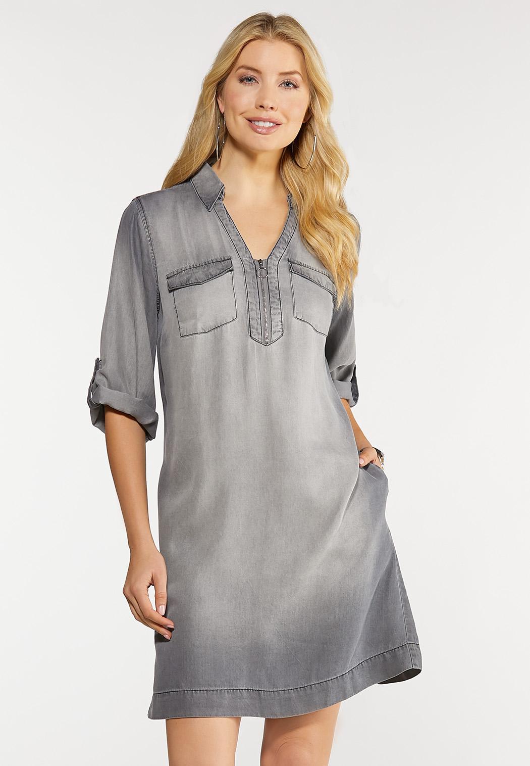 Plus Size Pocket Shirt Dress Plus Sizes Cato Fashions