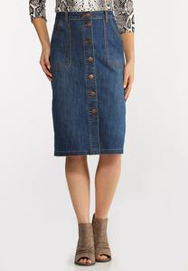 Denim Utility Skirt