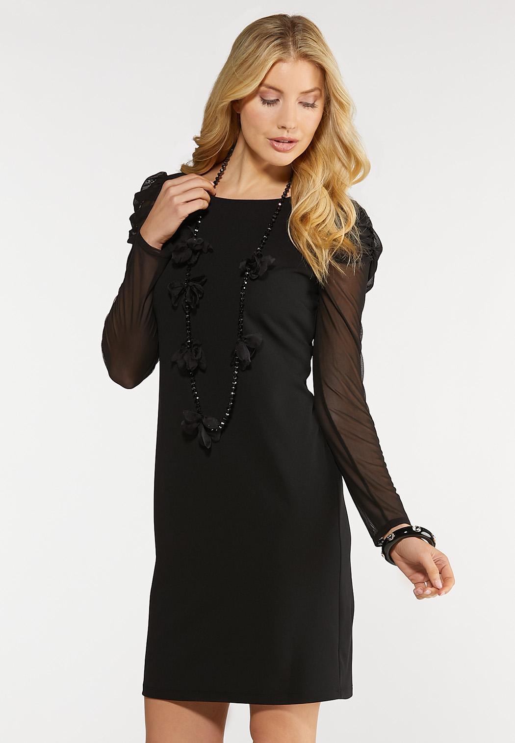 Mesh Sleeve Mini Dress
