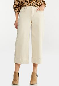Natural Wide Leg Jeans