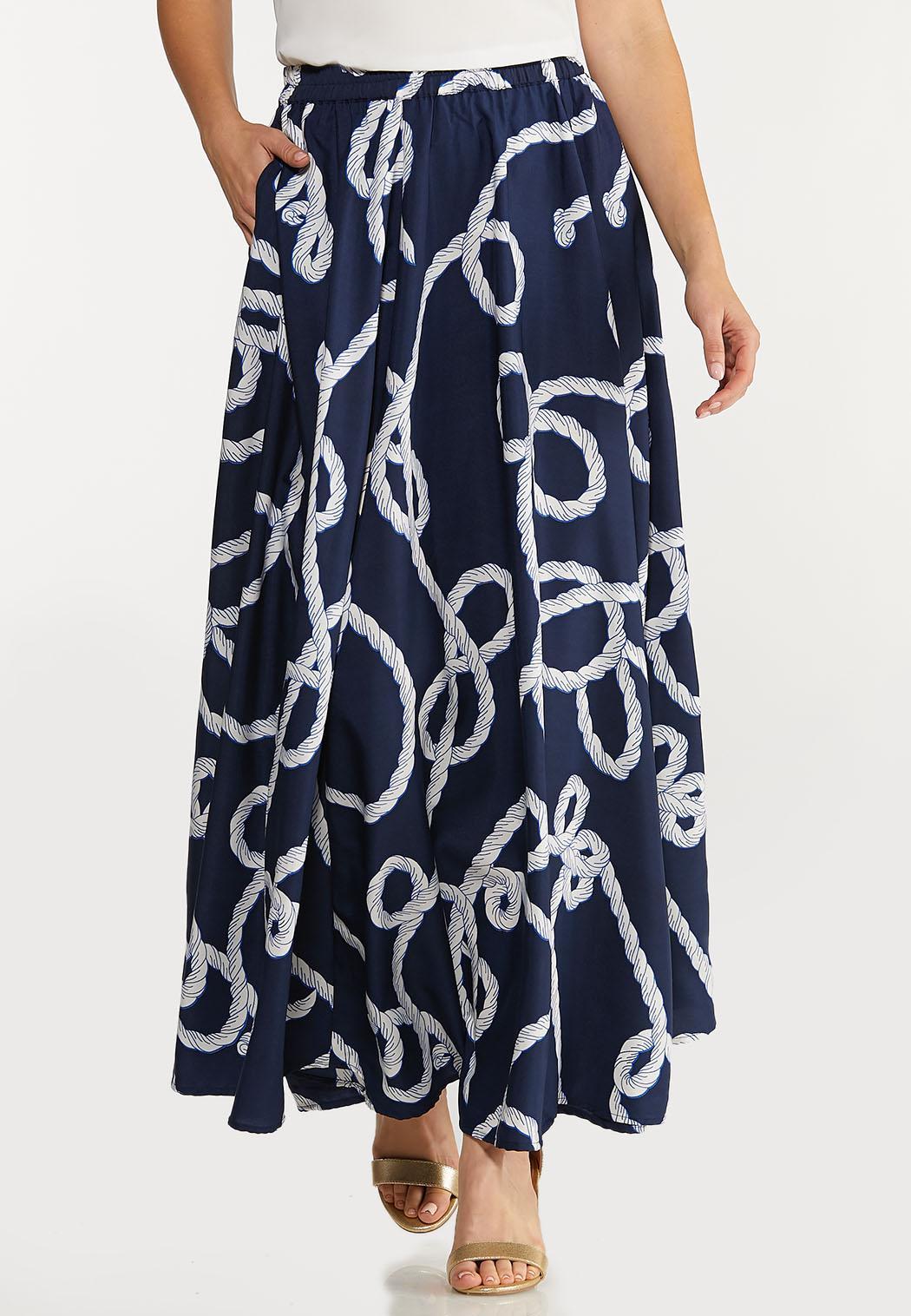 Nautical Sweep Skirt