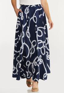 Nautical Sweep Skirt