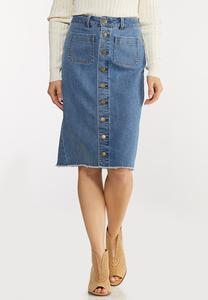 Button Down Denim Skirt