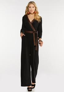 Grosgrain Trim Jumpsuit