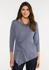 Plus Size Asymmetrical Cinch Top