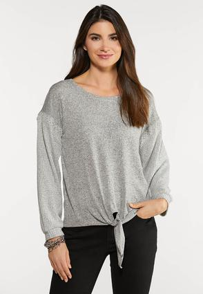 Plus Size Thermal Hacci Top
