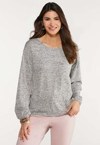 Plus Size Button Side Knit Top