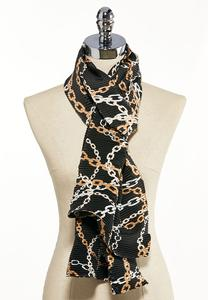 Chainlink Crinkled Oblong Scarf