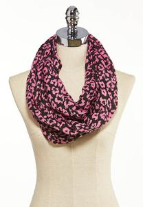 Pink Leopard Infinity Scarf