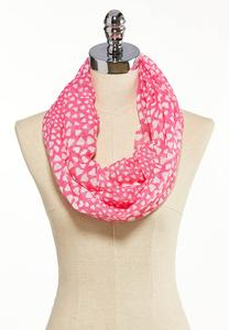Pink Heart Sequin Infinity Scarf