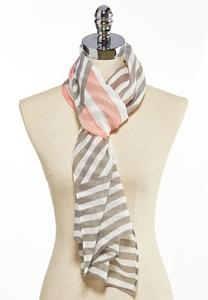 Diagonal Stripe Oblong Scarf