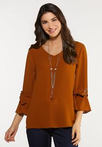 Buckle Sleeve Top