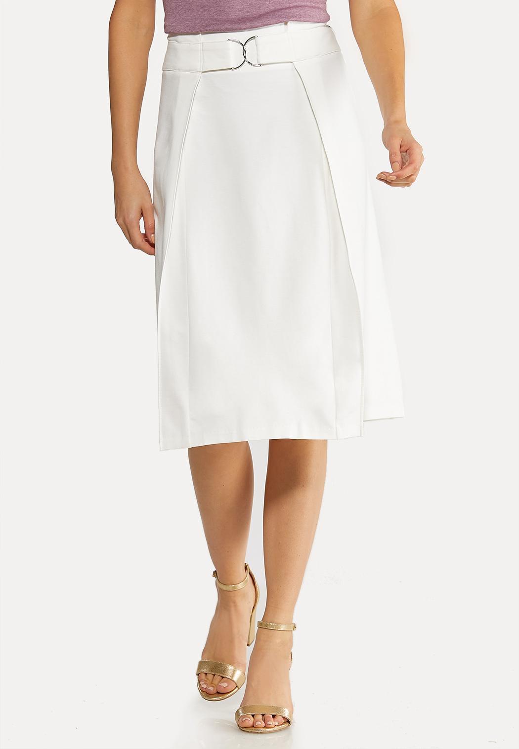 Plus Size Ponte A-Line Skirt