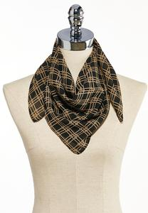 Chain Plaid Neckerchief Scarf