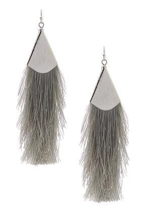 Fabric Fringe Earrings