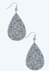 Sequin Teardrop Earrings