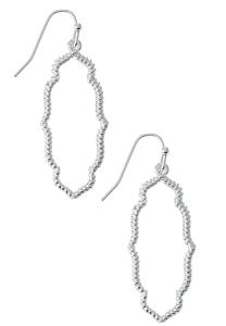 Silver Textured Moroccan Earrings