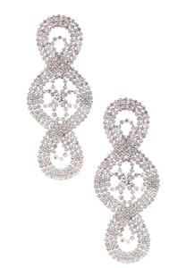 Rhinestone Statement Occasion Earring