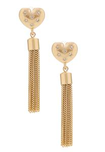 Heart Tassel Chain Earrings