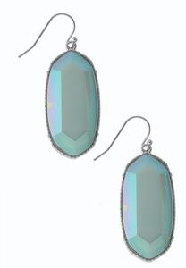 Faceted Octagon Earrings