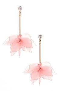 Dangling Lucite Petal Earrings