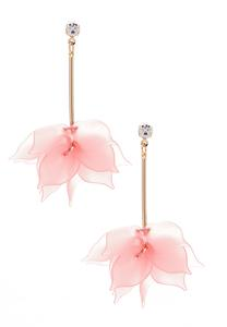 Dangling Lucite Petal Earrings