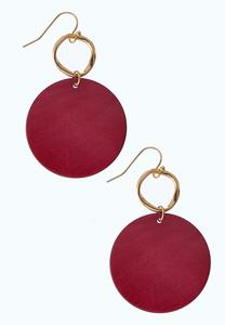 Rose Metal Disc Earrings
