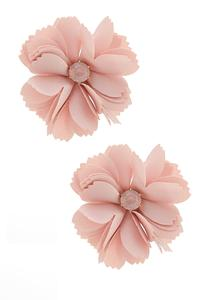 Pretty Petal Button Earrings