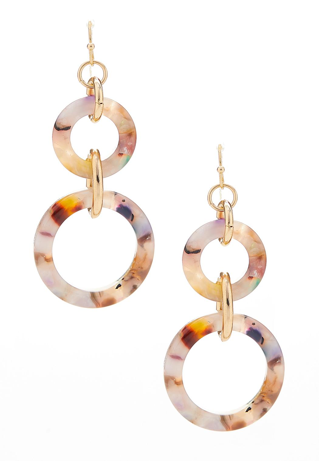 Double Ring Lucite Earrings