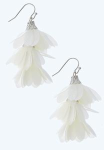 Tiered Chiffon Earrings