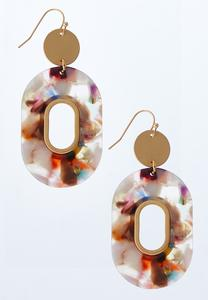 Multi Lucite Dangle Earrings