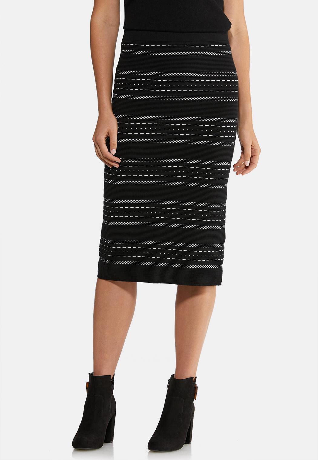 Plus Size Sweater Pencil Skirt