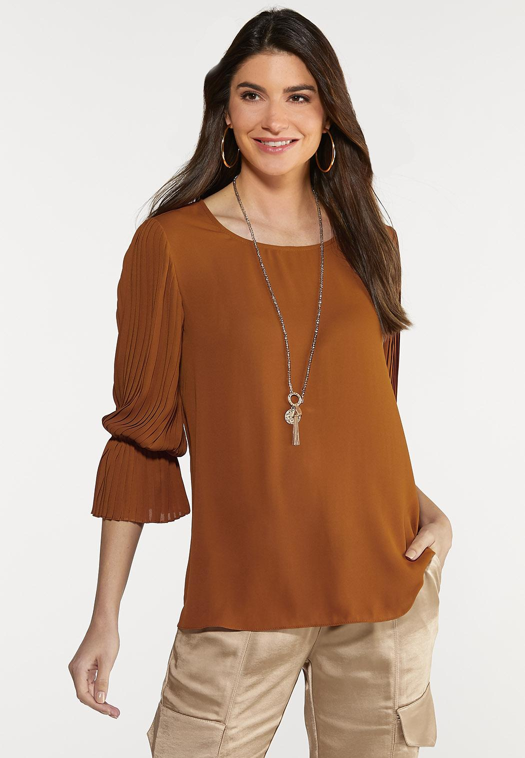 Dramatic Sleeve Woven Top