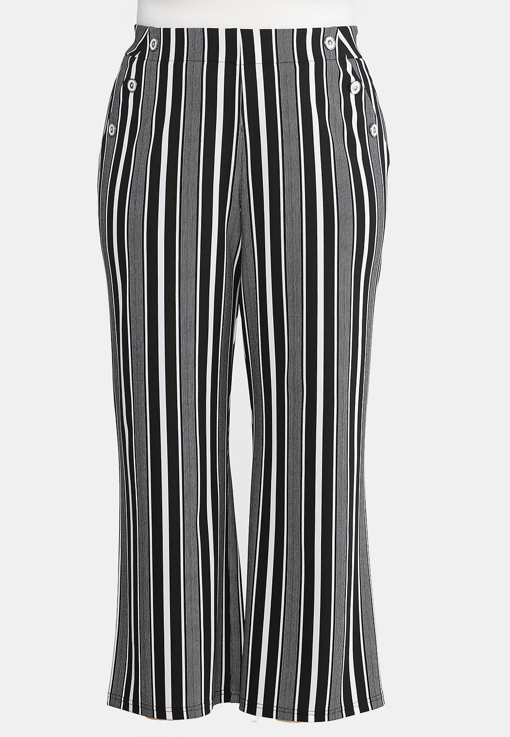 Plus Petite Modern Stripe Wide Leg Pants