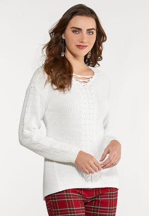 Lace Neck Sweater