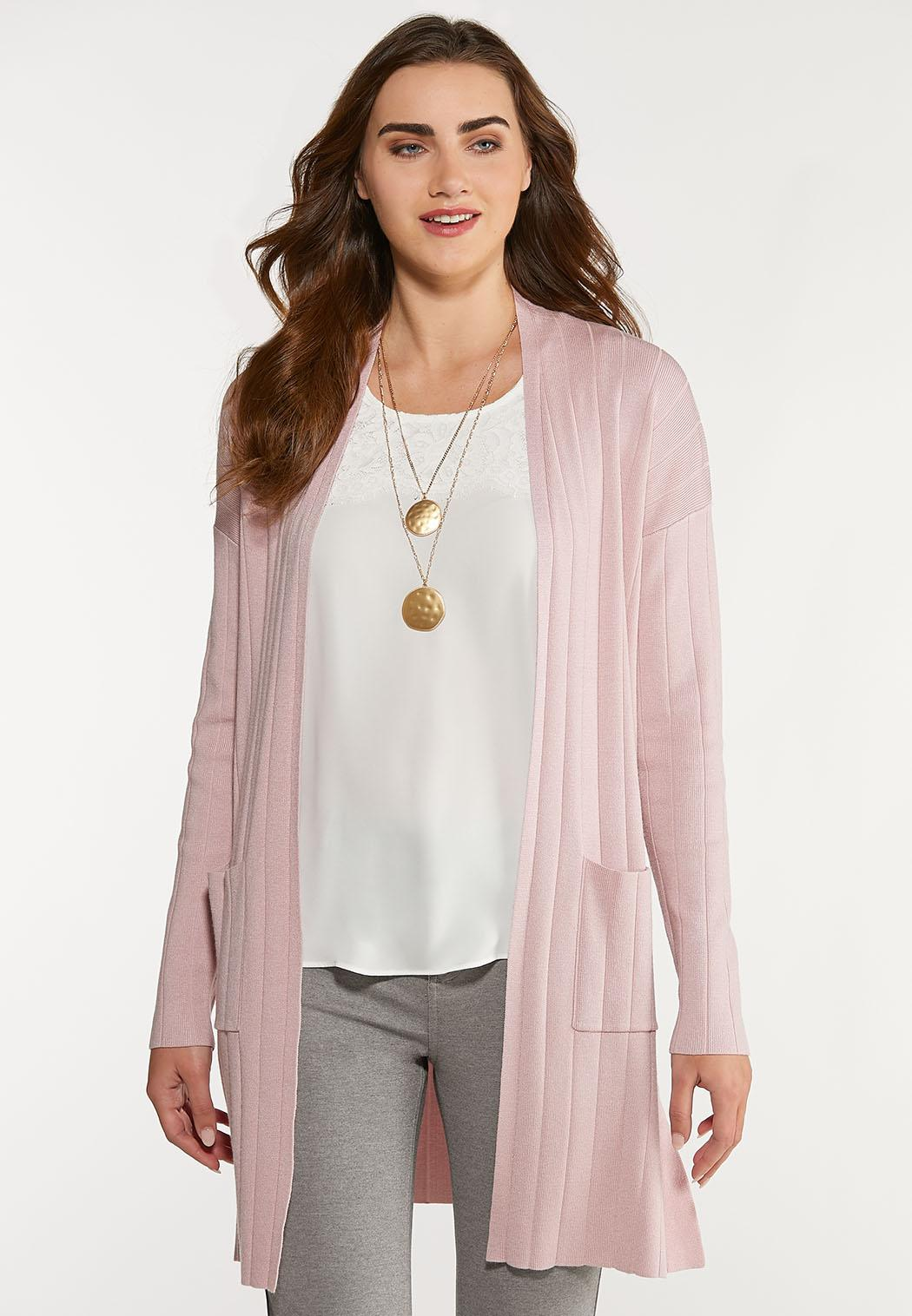 Plus Size Ribbed Duster Cardigan