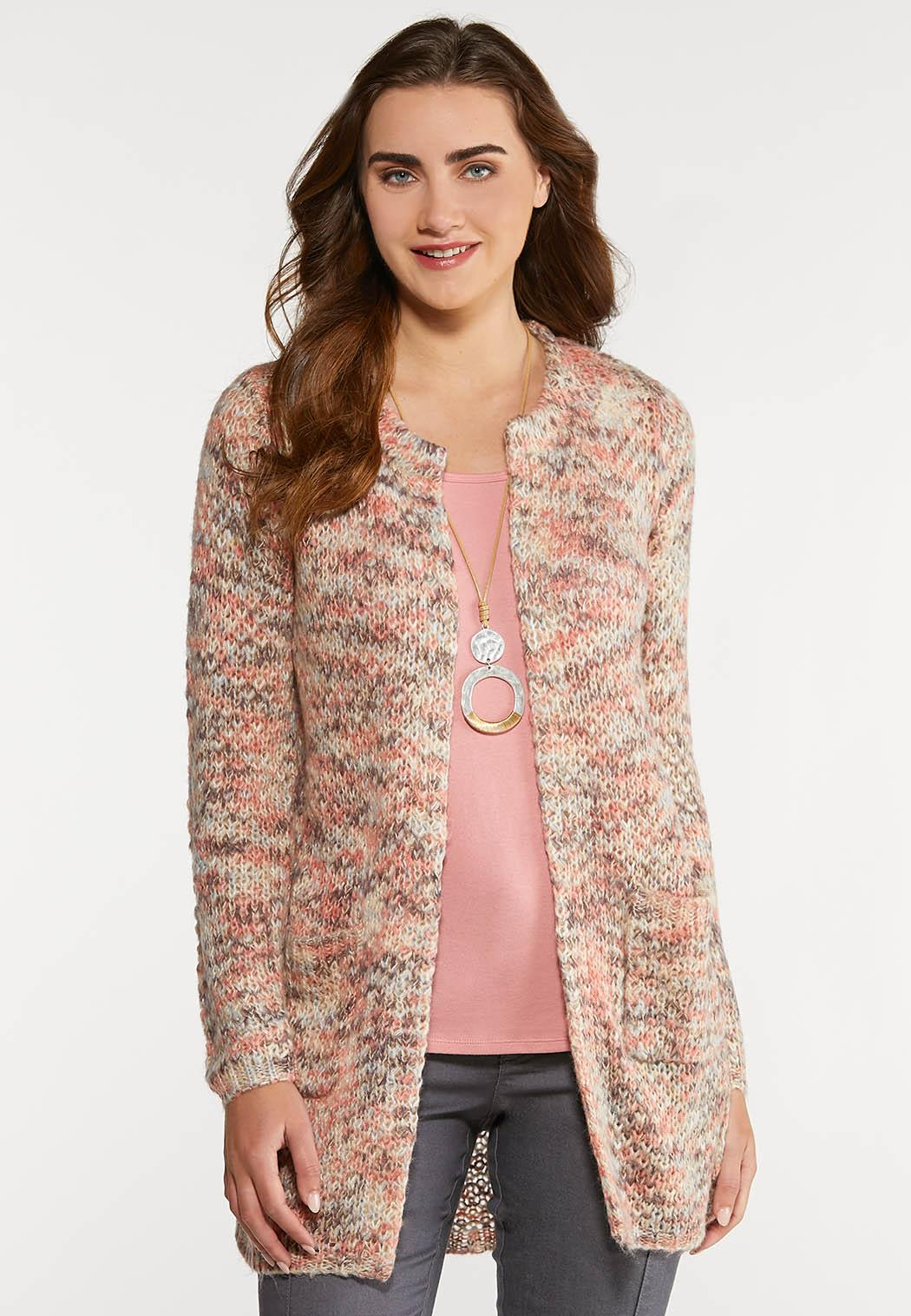 Plus Size Berry Sweet Cardigan Sweater