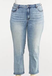 Plus Size Slim Boyfriend Jeans