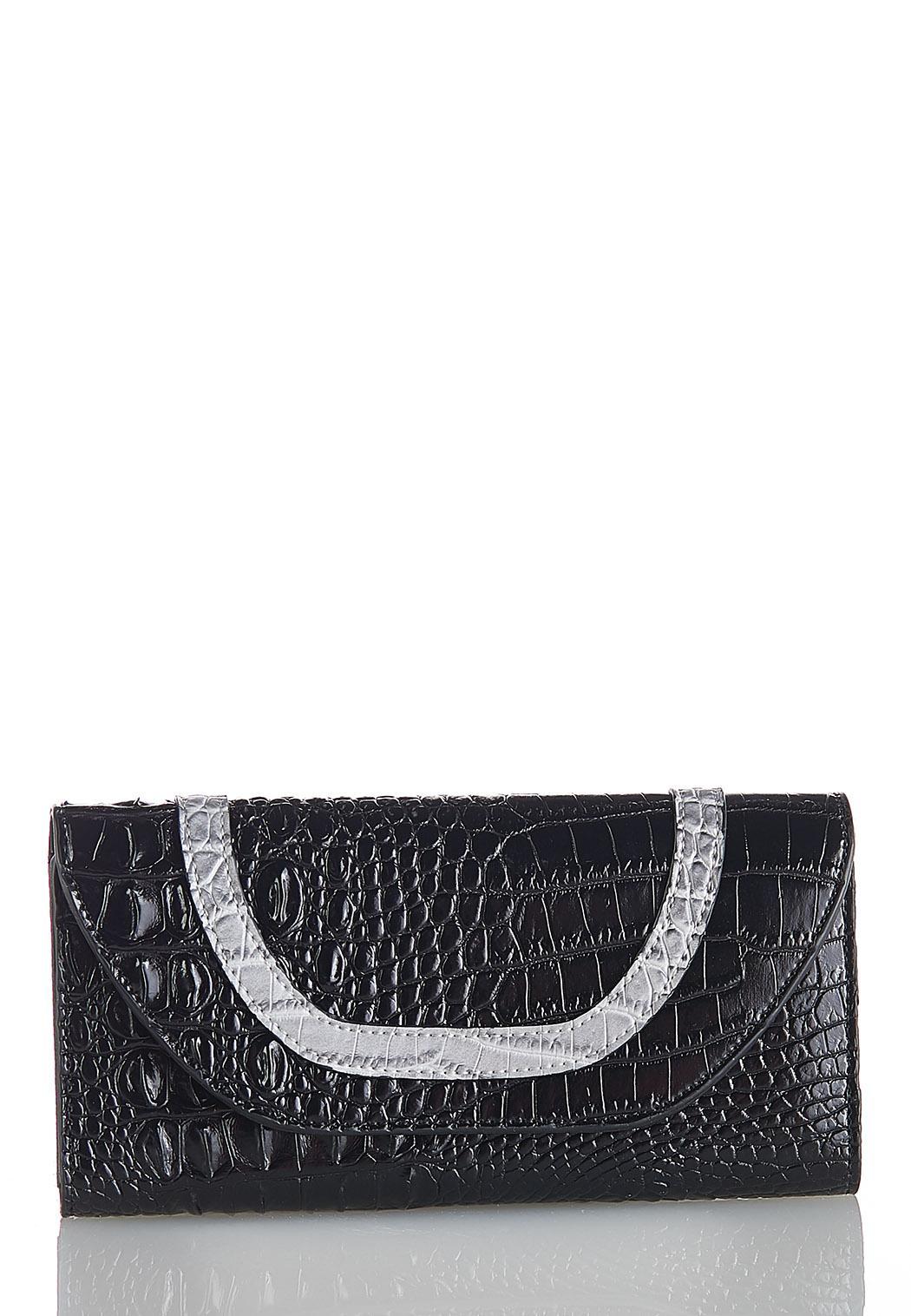 Tri-Tone Croc Wallet