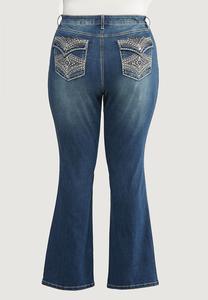 Plus Petite Stud Stitch Bootcut Jeans