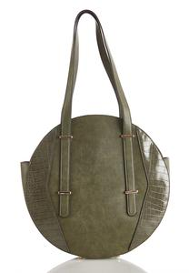 Croc Trim Circle Satchel