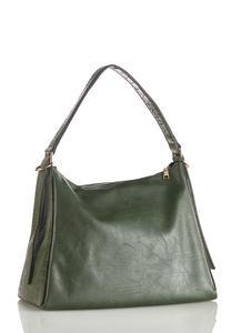 Croc Trim Hobo Handbag