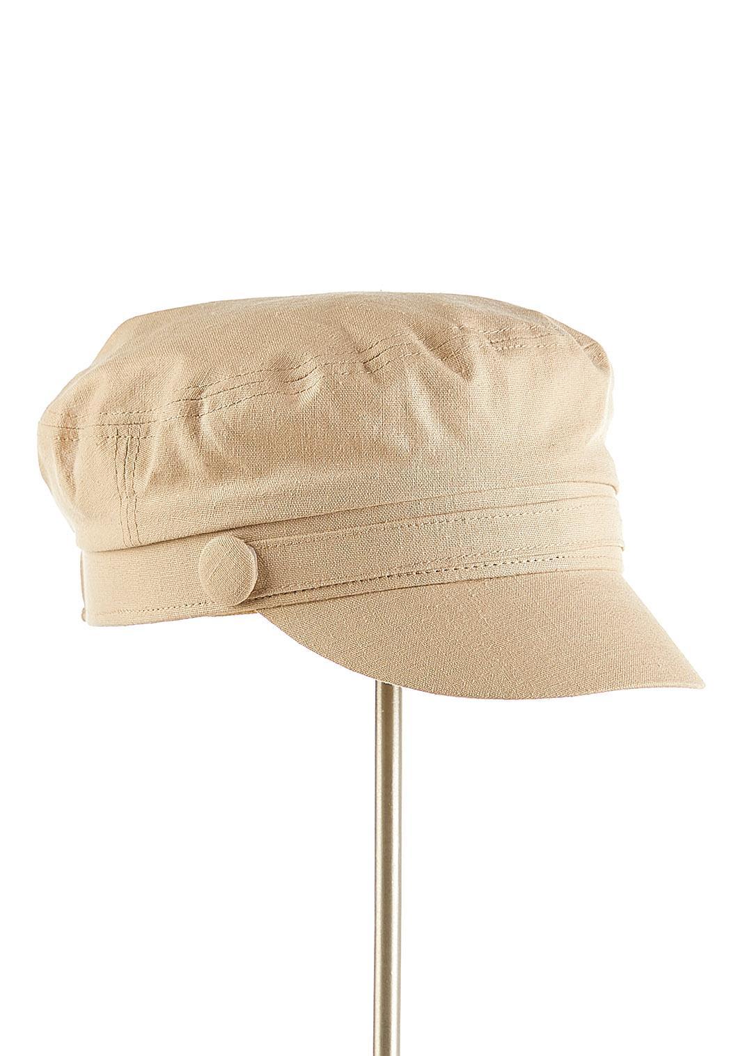 Solid Linen Cabbie Hat