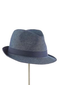 Denim Fedora Hat