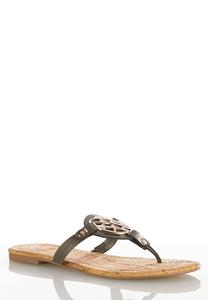 Medallion Cork Sandals