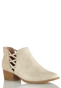 Wide Width Lattice Side Booties