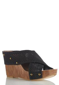 Stretch Crossband Wedges